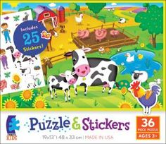 Farm Puzzle and Stickers