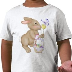 Easter Bunny and Basket #tshirt #kids #holiday