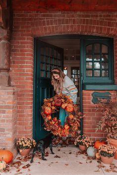 November Letter from The Editor - Zoella Halloween House, Fall Halloween, Halloween Door Wreaths, Zoe Sugg, Autumn Scenery, Autumn Aesthetic, Hello Autumn, Autumn Girl, Autumn Cozy
