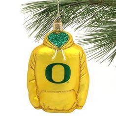 Oregon Ducks Glass Hoodie Ornament  @Fanatics ®   #FanaticsWishList