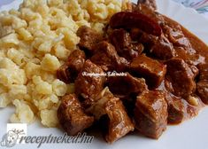 Érdekel a receptje? Kattints a képre! Hungarian Recipes, Hungarian Food, Curry, Food And Drink, Nutrition, Beef, Chicken, Ethnic Recipes, Essen