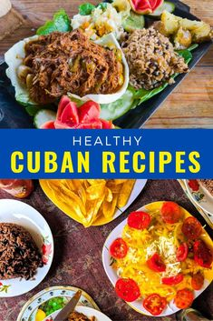 Traditional Cuban food is not only delicious but much of it is healthy too! Here are some easy Cuban recipes that are full in flavour like ropa vieja, picadillo, cuban flan, cuban rice, Cuban chicken fricassee, bistec encebollado,Bistec de palomilla, arroz con pollo, Cuban black bean and more #Cuba #Cubanfood Cuban Flan Recipe, Cuban Recipes, Healthy Recipes, Plantain Soup, Plantain Recipes, Traditional Cuban Food, Cuban Rice, Chicken Vegetable Stew, Cuban Chicken