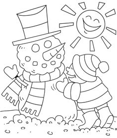 Super Cute winter non-christmas coloring pages!