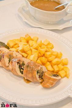 Chicken breasts stuffed with spinach and ham   Pechugas de pollo rellenas de espinacas y jamón   afreirpimientos
