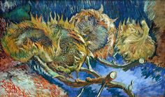 Vincent van Gogh, Four sunflowers gone to seed | Flickr - Photo Sharing!