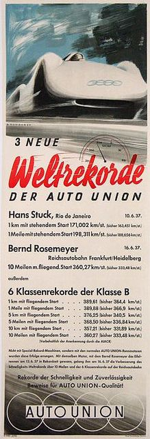 1937 Auto Union Typ C Stromlinie ad | Flickr - Photo Sharing!