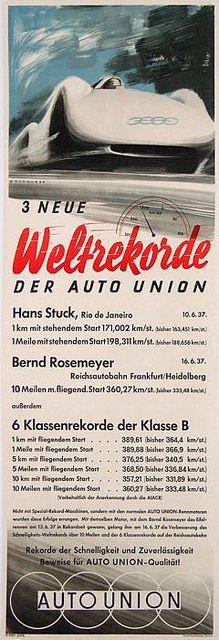 1937 Auto Union Typ C Stromlinie ad | Flickr - Photo Sharing!