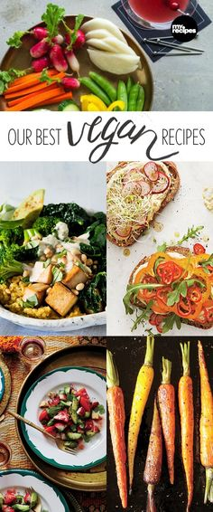 Enjoy all kinds of delicious dishes that support a plant-based lifestyle by omitting eggs, dairy, and all other animal products (even honey!) These wonderful recipes are packed with flavor, nutrition, and will please the palate of even the most hardcore carnivore. You don't have to be a vegan to enjoy these vegan recipes. | MyRecipes