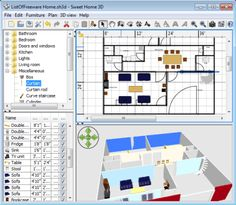 List of best free home design software for home designing. They can also do interior design, home furnishing, home decorating, landscaping, etc. Free Interior Design Software, Best Home Design Software, 3d Interior Design, Interior Design Courses, Design Blogs, Interior Paint, Luxury Interior, Sweet Home Design, Simple House Design