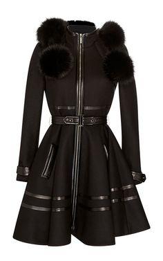 Fox Fur Hooded Coat by Elie Saab for Preorder on Moda Operandi