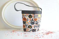 Halloween Bucket - Toddler Treat Bag - Fabric Bucket - Candy Bucket - Halloween…