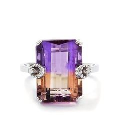 Anahi Ametrine Ring in Sterling Silver