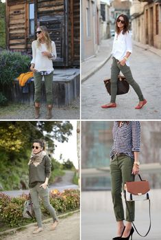 Take a look at the best winter Pants in the photos below and get ideas for your outfits! Winter Work Outfit Ideas Image source Cropped pants or culottes are the best way to show off a statement shoe or boot. Cargo Pants Outfit, Green Cargo Pants, Olive Green Pants Outfit, Outfits With Green Jeans, Mode Ab 50, Olive Clothing, Olive Jeans, Pantalon Cargo, Moda Chic