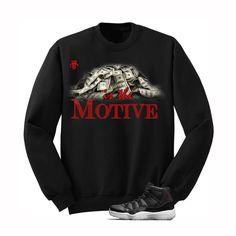 1c4d8a5b6cd0 Money Is The Motive Jordan 72 10 Black Sweatshirt - illCurrency Matching T-shirts  For