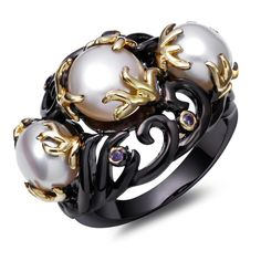 Find More Rings Information about Hot Sell Pearl Copper Wedding Rings For Women Lead Free Black Gold Plated With Purple Cubic Zircon Party Rings Fashion Jewelry,High Quality wedding ring diamond cuts,China ring clarity Suppliers, Cheap ring wave from ANGEL in Fashion Jewelry on Aliexpress.com