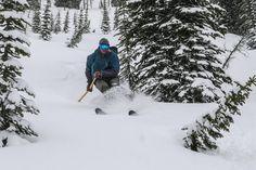 Chris on Hoks and a Tiak, Backcountry skiing at Powder Creek