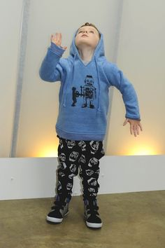 I told you we were robot obsessed! Here is our windup robot hoodie and robot trackies.. and of course Master Moodie doing his robot! Full range available for view at http://www.pozible.com/project/187067