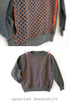 Boys up cycled sweatshirt with pockets