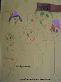 Wordless Wednesday: Poppet's Art Gallery Grows