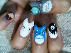 Totoro Nails!!! from TokyoOtakuMode