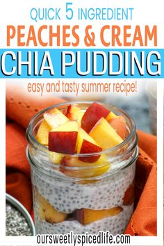 Make this Peaches and Cream Vegan Chia Pudding with Coconut Milk today!. This simple fresh peaches and cream recipe creates a healthy but dessert-worthy breakfast recipe. With easy overnight prep and only 5 ingredients, this healthy peach recipe comes together quick & keeps you full with nutrient packed chia seeds, ripe peaches, and creamy coconut milk. Perfect for healthy diets of all kinds, this chia pudding breakfast is vegan, vegetarian, paleo, keto, and more.