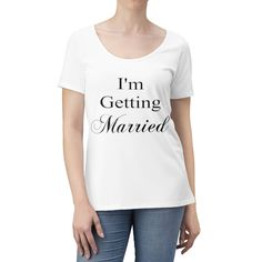 Excited to share this item from my shop: I'm Getting Married Women's Scoop Neck T-shirt - Various Colors - Bachelorette Party Shirt, Bridal Shower Gift, Wedding Present Wedding Shower Gifts, Gift Wedding, Bachelorette Party Shirts, Married Woman, New Moms, Warm Weather, Neck T Shirt, Getting Married, Hooded Sweatshirts
