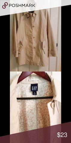 Gap Light Khaki Utility Jacket - Size M Excellent condition, button up khaki jacket with pretty floral lining. Gap Jackets & Coats Utility Jackets