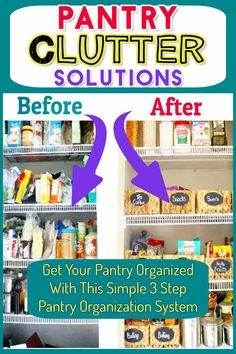 Pantry decluttering and organizing ideas for my cluttered messy kitchen in my cluttered messy house. Simple DIY pantry organization ideas and organizing tips! Kitchen Pantry Cupboard, Small Kitchen Pantry, Free Standing Kitchen Pantry, Kitchen Pantry Design, Messy Kitchen, Kitchen Organization Pantry, Organization Hacks, Organized Pantry, Organization Ideas