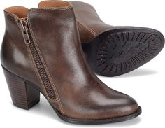 I like the zip detail on these super comfortable ankle boots from Sofft.  Other colour available.  sofftshoe.com