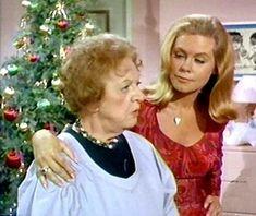 Aunt Clara (Marion Lorne) and Samantha (Elizabeth Montgomery) Bewitched