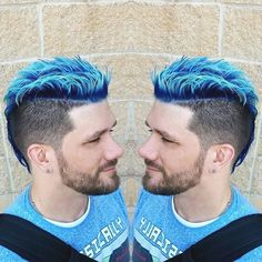 #bluehair #whitehair #mohawk #spikedhair #blue #barber @haircuttery  #haircuttery #theunicorntribe @theunicorntribe #modernsalon @modernsalon #starring #coloredhair #guyswithcoolhair #baltimore #os #whitehair #lookedmorewhiteinperson