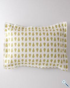 Mini-Print Percale Bedding pears, would love this as a pillow on a kids bed