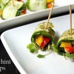 Raw Zucchini Wraps with Kale Pesto