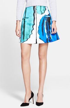 Risto Front Zip Miniskirt (Nordstrom Exclusive) available at #Nordstrom