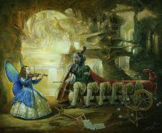Michael Cheval, surreal art, surrealism paintings, fantastic art, russian artist