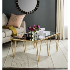 Shop for Safavieh Arlene Antique Gold Leaf Coffee Table. Get free shipping at Overstock.com - Your Online Furniture Outlet Store! Get 5% in rewards with Club O!