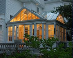 Conservatory for growing herbs, fruits and vegetables.