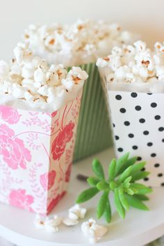 Scrapbook paper popcorn box printable