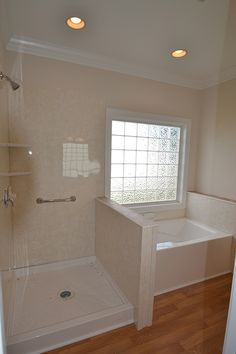Awesome Master Bathroom Side By Side Tub And Shower