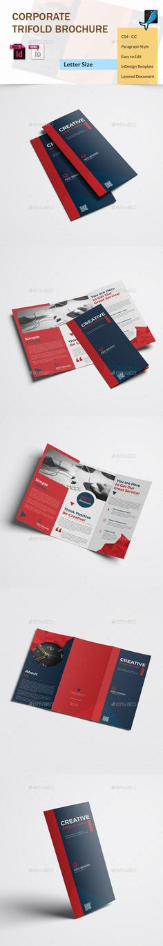 #Corporate Trifold Brochure - #Corporate #Brochures Download here: https://graphicriver.net/item/corporate-trifold-brochure/17777764?ref=alena994