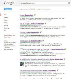 Indexação das Páginas Web nos Motores de Busca  Somente possuir páginas web não é suficiente. Somente ter páginas web, não é garantia de que vá aparecer nos resultados de pesquisa dos motores de busca. É importantíssimo verificar quantas páginas do site estão listadas nos motores de busca, uma vez que cada página pode ser uma forma de entrada para uma informação específica ( landing page ). Para que tenhamos maior chance de sermos...