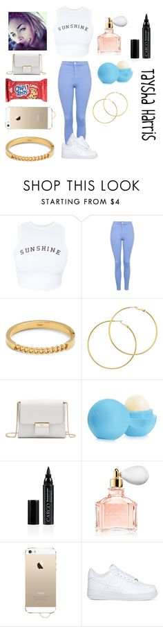 """Outfit #1"" by diamondslove ❤ liked on Polyvore featuring Wildfox, Topshop, Chloé, Melissa Odabash, Gérard Darel, Eos, CARGO, Guerlain, Agent 18 and NIKE"