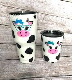 Cow Tumblers / Epoxy Tumbler / Cow Theme / Animal Tumbler / Personalized Gifts for Kids / Custom Gifts for Her / Baby Cow / Heifer Cow / Bow Diy Tumblers, Custom Tumblers, Personalized Gifts For Kids, Customized Gifts, Custom Gifts, Kids Tumbler, Tumbler Cups, Cow Gifts, Cute Cups
