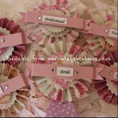 Rosette style badges with a pin fastening (can be personalised). £4.75 each. #henparty #henpartybadge #classyhenparty #henpartyaccessories