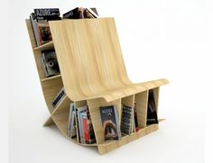 The Multipurpose Bookshelf Chair #books #storage #bookcase