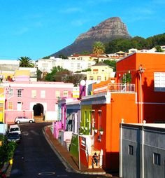 Colorful Houses of Cape Town Suburbs. Africa.