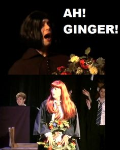 AVPM. Gingers are cool! We all know you wish you were a weasley, snape! Yeha, that's right! With a big, loving family. And we know you like red-haired people!(coughcough) Lily (coughcough)