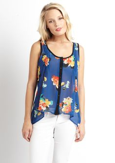 BLU PEPPER Floral Print Sleeveless Top  ideeli.com