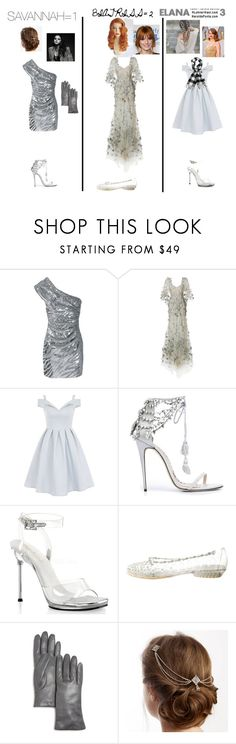 """""""Model of the Month- Who Do you Choose? 1,2, or 3?"""" by emma-is-a-bad-word on Polyvore featuring Yves Saint Laurent, Marchesa, Chi Chi, Pleaser, Stuart Weitzman, Bloomingdale's, models, diamond and april"""