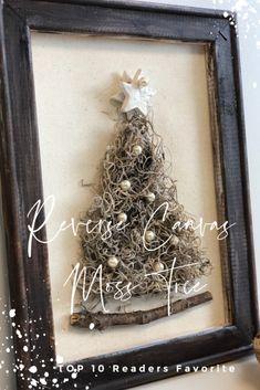 Natural whimsical Spanish moss Christimas tree with pearl beads and clay handmade star. Christmas Wood Crafts, Diy Christmas Ornaments, Christmas Signs, Christmas Projects, Handmade Christmas, Holiday Crafts, Christmas Decorations, Ornaments Ideas, Handmade Ornaments